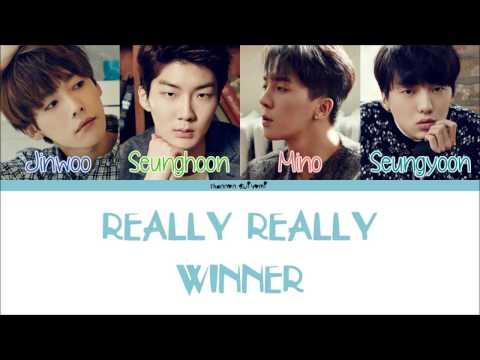 WINNER - REALLY REALLY Color Coded Lyrics [Han/Rom/Eng]