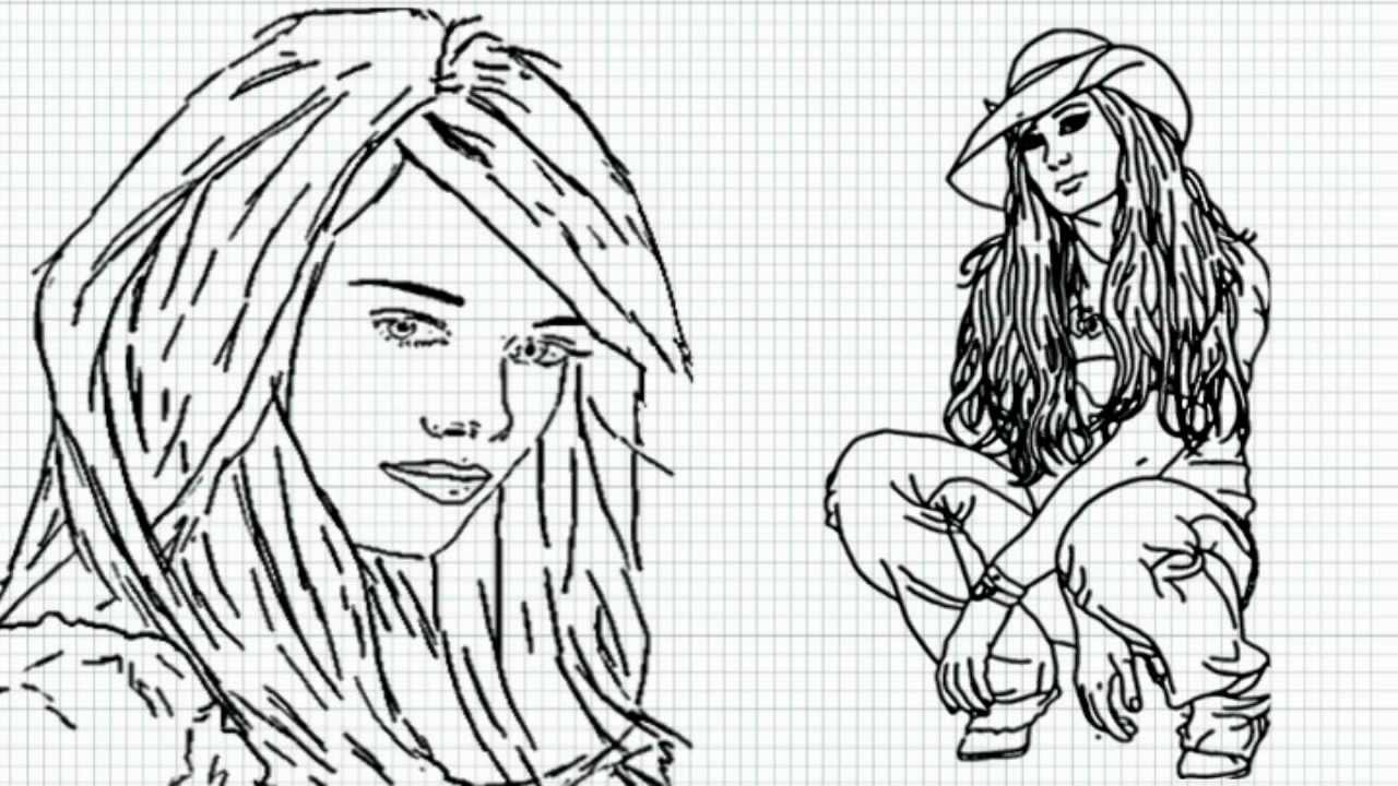 Hilary Duff How To Draw Hilary Duff Video Lizzie