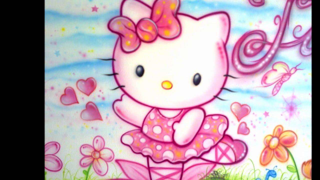 Aerografia En Una Habitacion De Una Hello Kitty Paso A