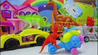 Baby Time - Trucks, Cars, helicopter transport dinosaurs