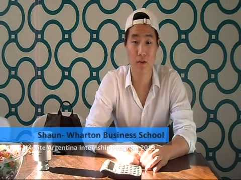 Shaun, student from Wharton Business School, participated in the Mente Argentina Internship Program 2013