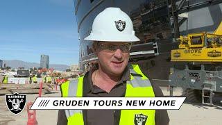 Coach Gruden Tours Allegiant Stadium in Las Vegas | Raiders