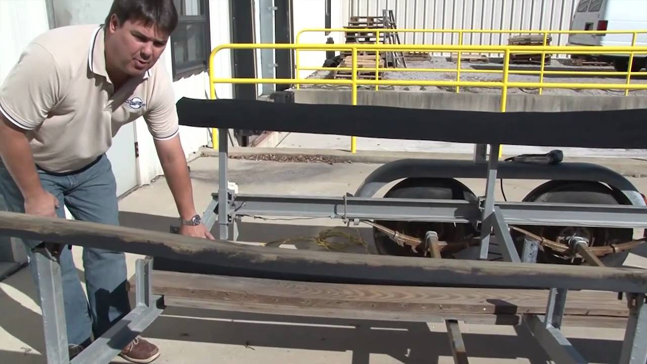 Boat Trailer Bunk Carpet Replacement Part 1 Youtube