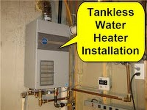 Tankless Water Heater Installation Youtube