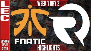 FNC vs OG Highlights | LEC Spring 2019 Week 1 Day 2 | Fnatic vs Origen