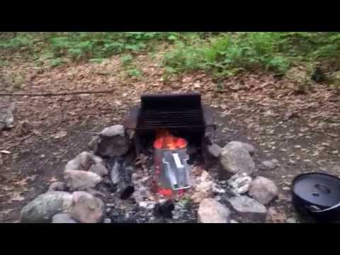 This is a Weber coal chimney. It gets the coals nice and hot for cooking. Love this thing!