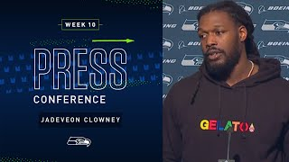 Jadeveon Clowney Postgame Press Conference at 49ers   2019 Seattle Seahawks