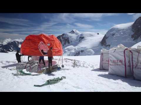 Ice Memory, des carottes de glace prélevées sur le Mont Blanc
