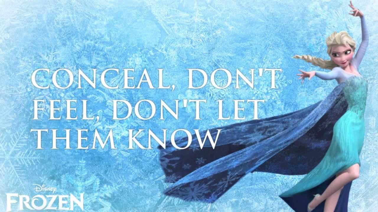 Let It Go (FROZEN) - Idina Menzel (Lyrics) - YouTube  Let It Go (FROZ...