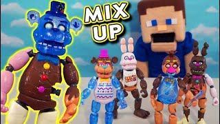 Five Nights at Freddy's Funko Mix & Match Chocolate FrostBear?? Holiday Articulated FNAF Figures