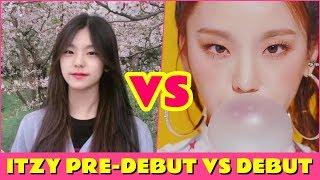 ITZY - PRE-DEBUT VS DEBUT [JYP's new girl group]