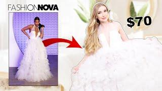 TRYING ON FASHIONNOVA WEDDING DRESSES!! *hits & misses*