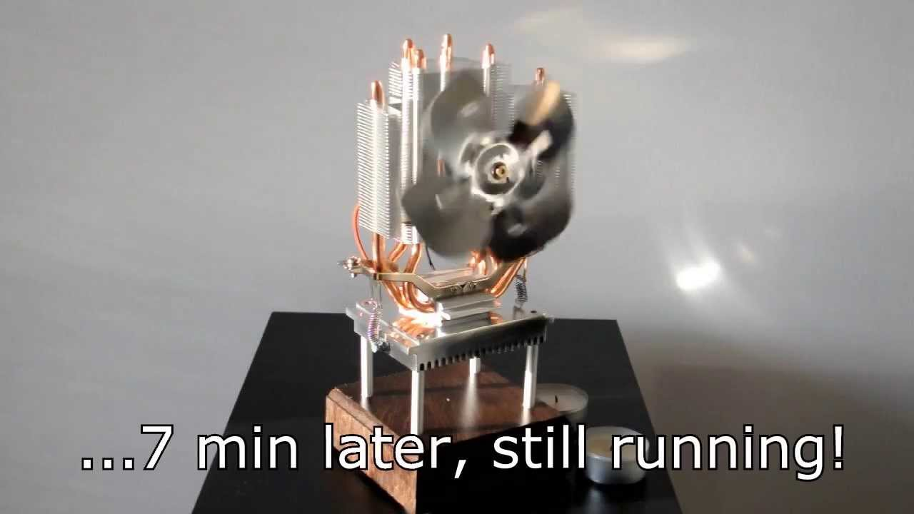 Thermoelectric Fan Powered By A Candle Youtube