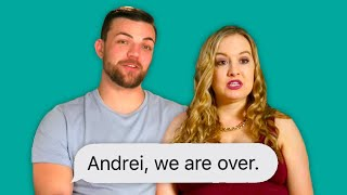 Elizabeth and Andrei Fight Because of his Dark Past | 90 day fiancé