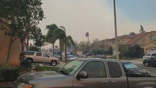 Sylmar Fire Crazy Winds and Smoke