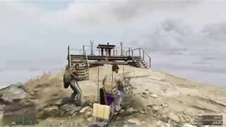 gta 5 ONLINE the dumbest way to get to the top of mount chiliad