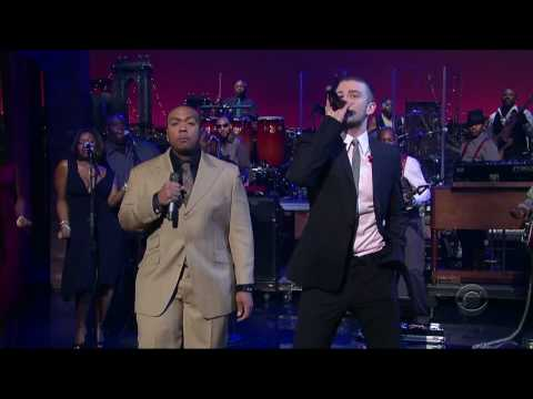 Justin Timberlake ft Timbaland - SexyBack [LIVE @ Letterman] HD QUALITY