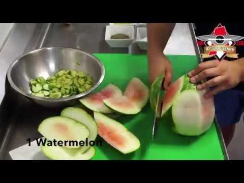 Watermelon Cucumber & Avocado Salad