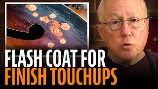 Watch the Trade Secrets Video, Using a flash coat for guitar finish touchups
