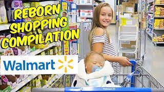 Shopping with Reborn Baby Doll at Walmart Haul (Compilation)