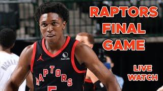 Final Game of Season WATCH ALONG - Raptors vs Pacers Reaction!