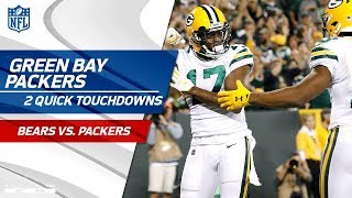 Green Bay Scores 2 TDs in 53 Seconds! | Bears vs. Packers | NFL Wk 4 Highlights