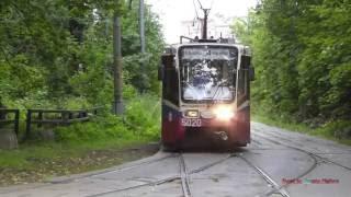 Трамваии в Измайловском парке в Москве! Trams in Izmailovo Forest in Moscow, Russia