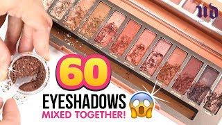 """We Mixed 60 EYESHADOWS Together And Discovered A Crazy Secret from URBAN DECAY!!! DIY Makeup """"Hacks"""""""