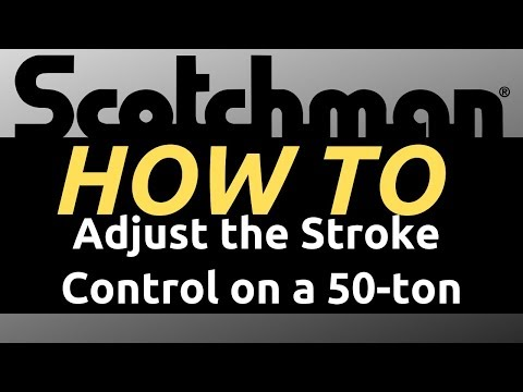 Scotchman - How to Adjust the stroke control - 50-ton Ironworker