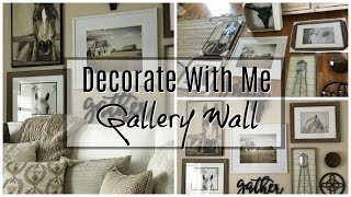 Decorate with me: How to Create A Gallery Wall | Farmhouse Inspired Gallery Wall