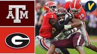 Texas A&M vs #4 Georgia Highlights   Week 13   College Football 2019