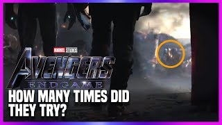 """Avengers Endgame """"Special Look"""" How Many Times Did They Try?"""