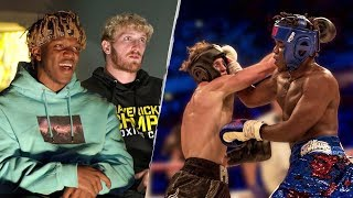 KSI & Logan Paul Rewatch The First Boxing Fight - 40 Days