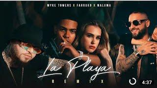 Mike Towers - La Playa Remix (Letra)