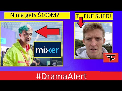 NINJA leaves Twitch FOR $100 Million ? #DramaAlert FaZe Sues Tfue BACK!