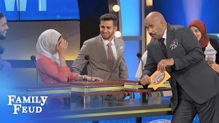 Hubby 'bout to be SINGLE! | Family Feud