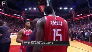 Clint Capela Rejects LeBron James Shot! Cavs vs Rockets