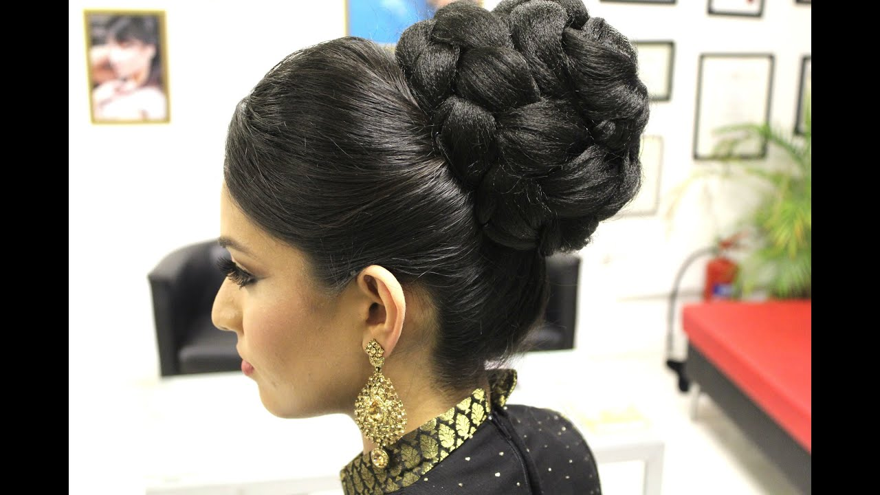 Tutorial Indian Bridal Hairstyle Youtube