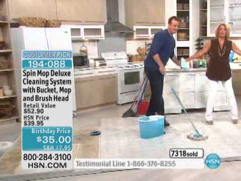 Spin Mop Deluxe Cleaning System With Bucket Mop And Bru