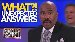 WHAT?!? UNEXPECTED ANSWERS ON Family Feud USA! Steve Harvey Can't Believe It!