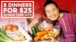 I Made 8 Dinners For Two People On A $25 Budget (In NYC!)