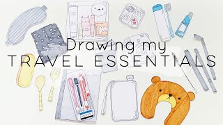 Drawing my Travel Essentials (feat. Yesstyle) | Doodles by Sarah