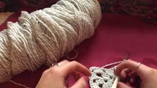 ASMR ✧ Relaxing Crochet (soft spoken, mouth sounds, gentle, hand movements)