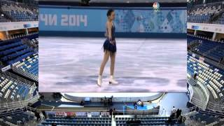 Mao Asada 2014 Olympic FS US NBC 米NBC放送 日本語字幕付き