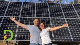 Couple builds Off Grid Solar Array on the Cheap, to Power their house, DIY