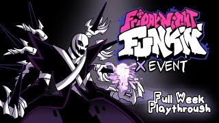 Friday Night Funkin' The X Event Mod - Full Week Playthrough + Easter Egg [Vs XGaster][HARD]