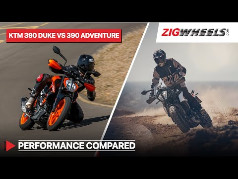 KTM 390 Adventure vs 390 Duke - Performance, Braking, Mileage compared