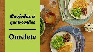 Omelete de cebola e bacon | Cozinha a quatro mãos | Por Rita Lobo