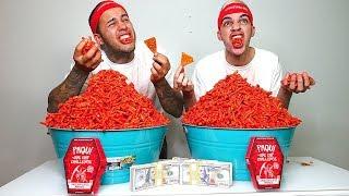 HOT CHEETOS CHALLENGE!!! ($10,000 CASH BET)