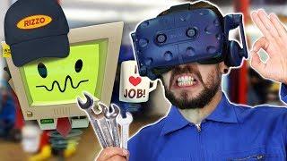 STICK IT UP YER TAILPIPE  | Job Simulator (HTC Vive Virtual Reality)